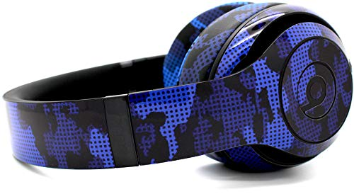 Blue Camo Beats by Dre Skin/Ear-pad Cushions Kit by Evil Headphones - Compatible w/Beats by Dre Studio 2.0 Wired/Wireless & Studio 3 /Protective Skin Wrap (Headphones not Included) - Blue Camo ()