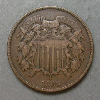 1864-1868 Two Cent Piece G/VG