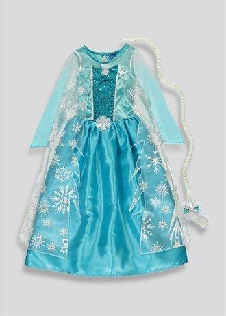 Disney licensed Queen Elsa fancy dress with Hairpiece 8-9yrs Frozen ...