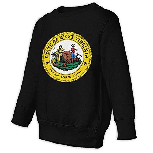 Tniy Toddler Juvenile Sweatshirt Seal of West Virginia Children Pullover Hoodie Sweater