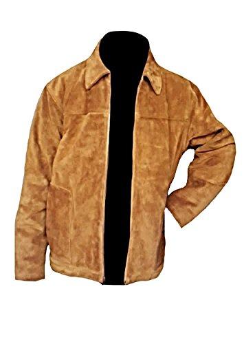 Classyak Men's Fashion Suede Leather Stylish Jacket Brown ()