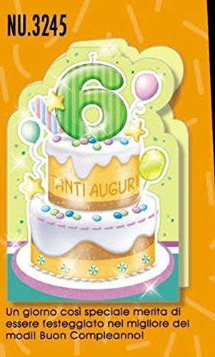 Auguri Buon Compleanno 6 Anni.Subito Disponibile Biglietto Auguri Compleanno 6 Anni Una