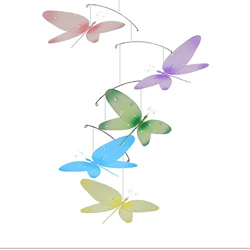 Dragonfly Mobile Sparkle Nylon Mesh Dragonflies Mobiles Decorations Decorate Baby Nursery Bedroom Girls Room Ceiling Decor Birthday Party Baby Shower Crib Mobile Baby Mobile Hanging Mobile 3D Art