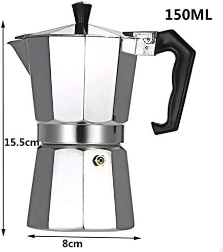 Lcb 150ML / 300ML große Kapazität Aluminium Moka oktogonalen Kaffeekanne (Size : 150ML)