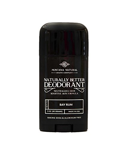 Bay Rum Natural Aluminum & Baking Soda Free Deodorant Stick (that works!) Stay Fresh All Day - For Women & Men - Made in USA, Nut Free Healthy, Safe, Non Toxic - Paraben, Gluten & Cruelty Free