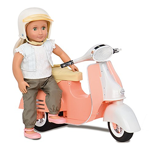 Our Generation Peach and Ivory Scooter for 18