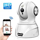 Security Wireless IP Camera, Mucjun HD 1080p WiFi Surveillance Camera Nanny Camera for Baby/Elder/Pet, 2 Way Audio Night Vision Motion Detection Alert, Pan/Tilt/Zoom Remote Monitor -Work with Alexa