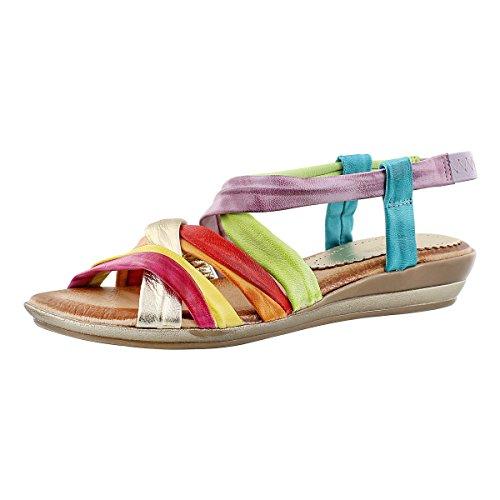 multi colored sandals - 3