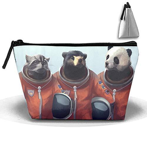 Cat Bear Panda Costume Drawing Cosmetic Case Portable Artist Storage Bag Toiletry Jewelry Bags ()