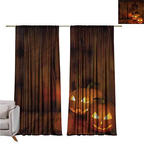 zojihouse Pumpkin Awning Room Darkening Curtain 62