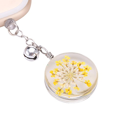 - VaporMao Handmade Real Flower Anti Dust Plug/ Ear Cap / Cell Phone Charms For iPhone, iPad, iPod, Samusung and Other 3.5mm Ear Jack, Yellow