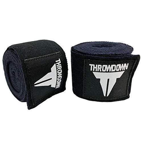 Throwdown 180 inch Boxing, Kickboxing, Muay Thai, and MMA Traditional Echo Elastic Handwraps for Men & Women