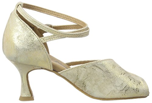 087 Gold de Chaussures Magic 020 Danse Femme Or 017 Latein Tanzschuhe Damen Salon de Diamant Gold zqwOIfW