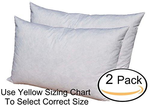 Pillowflex 95% Feather by 5% Down Pillow Form Insert Stuffer