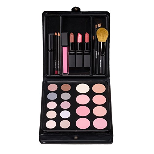 Jill Kirsh Color ultimate all in one mineral make up palette (complete kit w/ eyeshadow, lipstick, blush, brushes, contour, gloss, mascara & more) - not tested on animals - Blonde & Gray - MADE IN USA ()