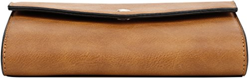 DELUXITY Crossbody Wallet Clutch Mustard Women's Envelope ZqgSWfrwHZ