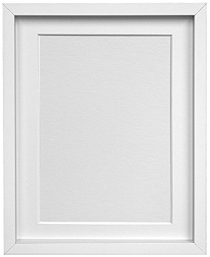 FRAMES BY POST Rio Picture Photo Frame, MDF Wood, White with White ...