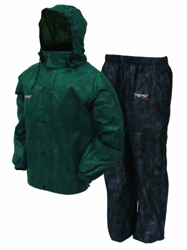 Frogg Toggs Men's All Sports Rain and Wind Suit, Green/Black, (Golf Rainsuit)
