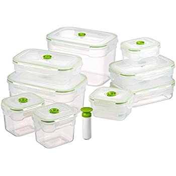 Amazoncom Lasting Freshness 19 pc Rectangular Vacuum Seal Food