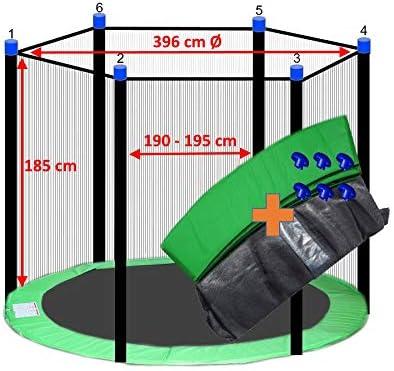 awshop24 B/âche de Protection pour Trampoline Vert 100 cm