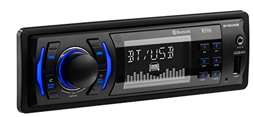 dio Car Receiver 616UAB | Single Din, Hands Free Bluetooth, Plays USB/MP3/AM/FM/Smart Phones, AUX-IN, Wireless Remote (1990 Jeep Grand Wagoneer)