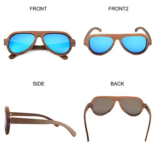 6d0d42e2f1 Walnut Wood Sunglasses For Men   Women with UV400 Polarized Lenses ...