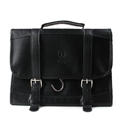 GOOD MEDIA Men Leather Hanging Travel Toiletry Bag Shave Dopp Kit Portable Accessories Case by GOOD MEDIA