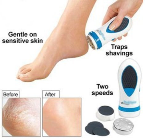 e Electric Foot Spa Smoother /Pedicure Kit /Foot Care Kit /Callus Skin Dead Skin Remover ()