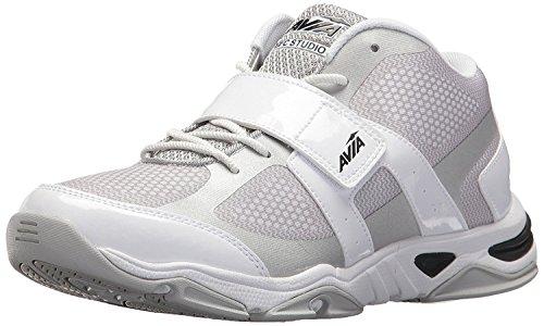 (Avia Women's Gfc Studio II Sneaker, White/Chrome Silver/Black, 9 Medium US)