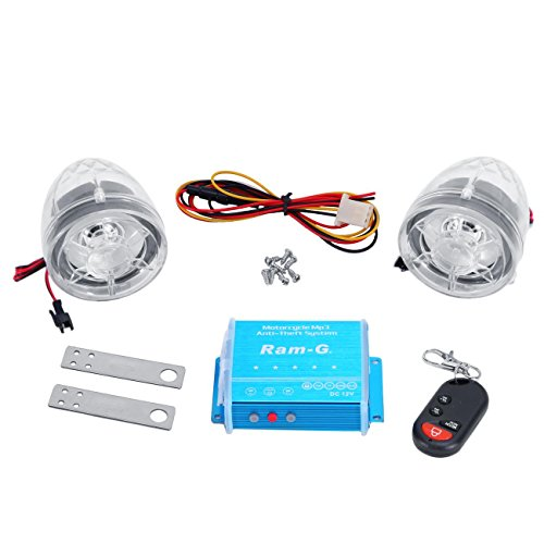 Multifunction Speaker System - INNOGLOW Motorcycle LED Audio Radio Bike Sound System Sd Usb MP3 12V Anti-theft Alarm System FM Handlebar Stereo Speaker Multifunction (Clear 2)