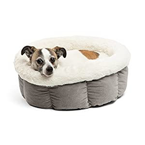 Best Friends by Sheri Cuddle Cup Cozy Microfiber Cat and Dog Bed, High Walls for Improved Sleep, Standard and Jumbo Size…