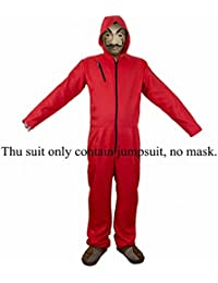 La Casa De Papel Salvador Dali Cosplay Movie Costume Red Coverall Halloween Costume