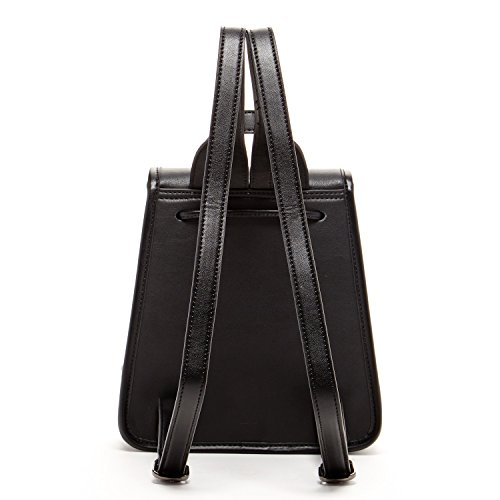 Nicole The Purse Rucksack Womens SUSU Black Designer Backpacks Leather Small PHZqwSx