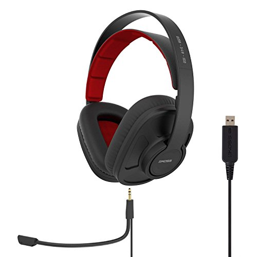 Koss GMR-540-ISO USB Closed-Back Gaming Headphones | Detachable Cord Design | Two Cords with Microphones Included | Light Weight | Connects via USB - Koss Audio Video