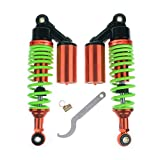 Wotefusi Motorcycle New Pair Red Orange 11'' 280mm Round Ends Shock Absorbers Replacement Universal Fit for Honda Suzuki Kawasaki Yamaha Ducati Scooter ATV Quad Dirt Sport Bike Go Kart