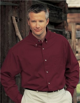 Amazon.com: Men's Down Collar Long Sleeve Dress Shirt - Maroon ...