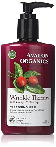 Avalon Organics Wrinkle Therapy Cleansing Milk, 8.5 oz.