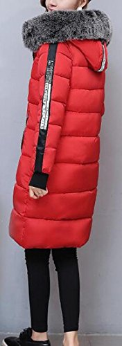 Thicken Women Coats UK Red Fur Premium Parka Down today Zip Collar aERwqxxF5