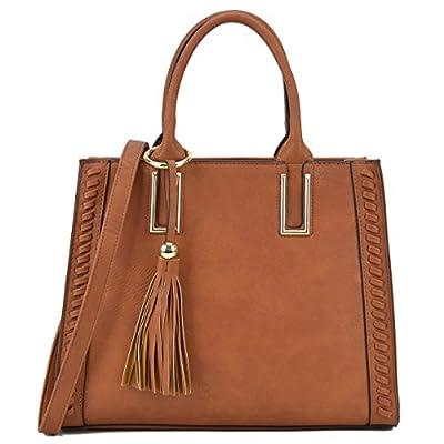 Dasein Satchel Handbags Vegan Leather Purses Shoulder Bags for Women 2pcs Set with Wallet