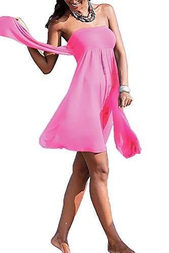 Beach Summer Dress Casual Amstt Peach Women's Mini Sleeveless Straps Xg5Pq