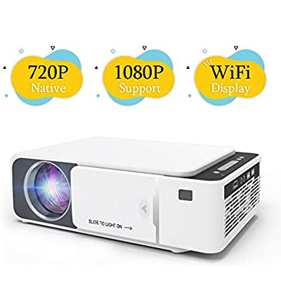 Techstick WiFi Projector Mini Video Projector Portable 720P Projector  Upgraded 4000 Lux  WiFi Display for iOS Android  Supports 1080P  HDMI  USB  VGA  Devices