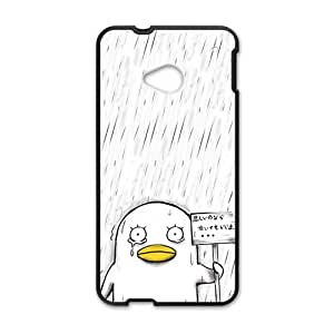 Sad Duck In Rain Cute Black HTC M7 case