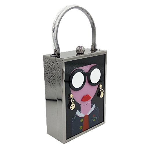 le mariage Mode Acrylique pour sac Black sac bandoulière sac soirée soirée bal boîte à à main femmes de sac modèle d'embrayage 6g6wr