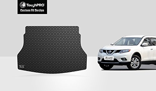 ToughPRO Nissan Rogue Cargo Mat - All Weather - Heavy Duty - Black Rubber - (2014-2019)
