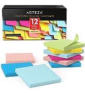 Arteza Boîte repositionable notes 76x76 mm | 12 x carnet de notes autocollantes | 100 notes par b...