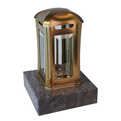 designgrab AML5AGB1Orio Grablampe Venezia aus Edelstahl-bronzefarben Gold 13 x 13 x 24 cm