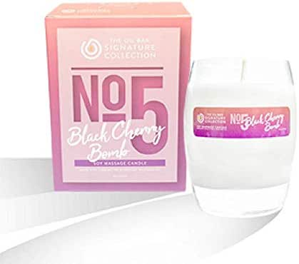 The Oil Bar No.5 Black Cherry Bomb Soy Massage Candle