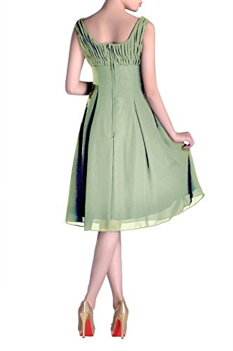 of Mother the Dress Special Length Occasion Formal Brides Graugrün Knee Pleated Bridesmaid SOxaX