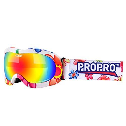 SE7VEN Adolescent Lunettes De Neige,Snowboard Goggle Anti-buée Protection Uv Unisexe Masques Couleur