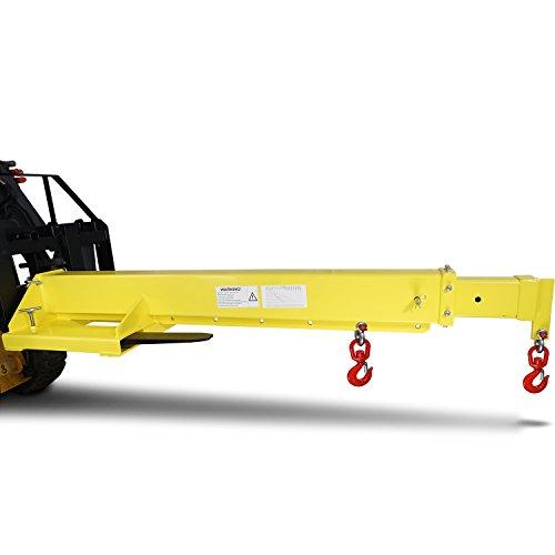 Titan Forklift Mobile Crane Lifting Hoist Truss Jib Boom Hook 6000 lb capacity -